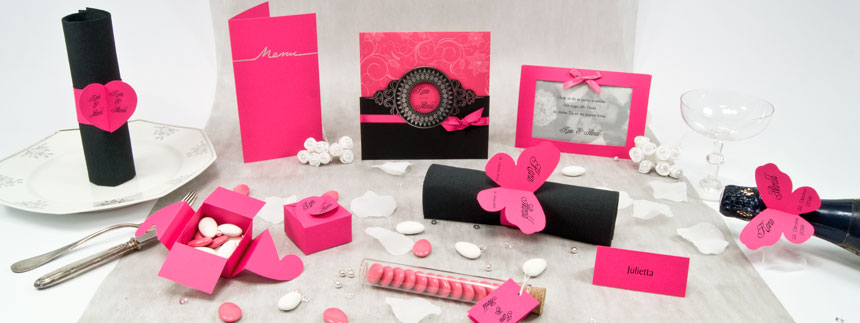 Karten Set Pink